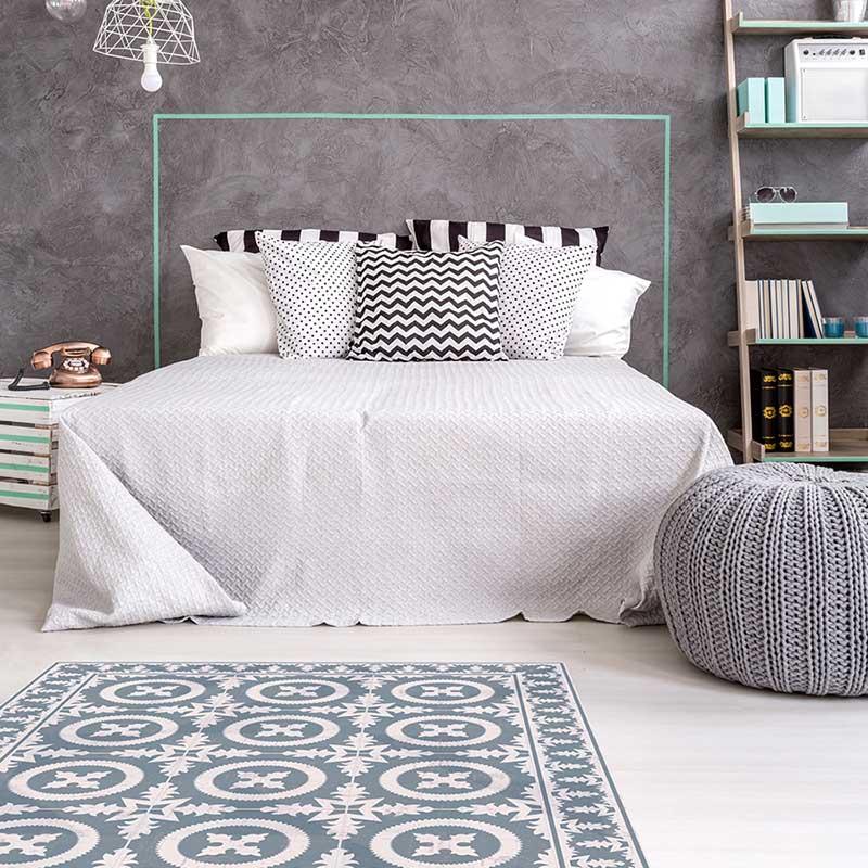 alfombra vinílica dormitorio
