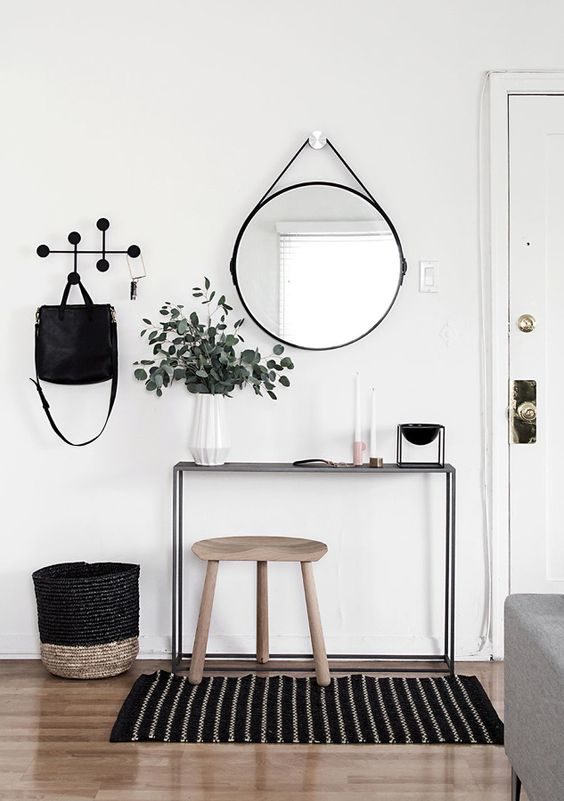 Recibidor de estilo nórdico espejo Adnet