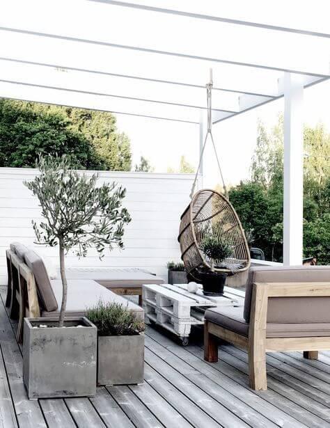 Decorar una terraza con estilo nórdico