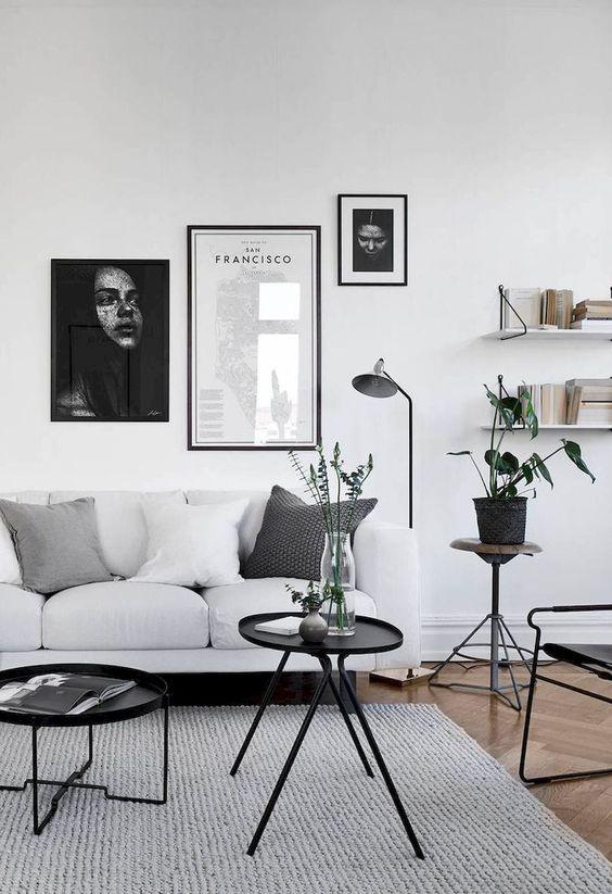 Decorar salón con estilo nórdico sofá