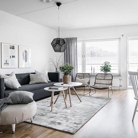 Decorar salón con estilo nórdico alfombras