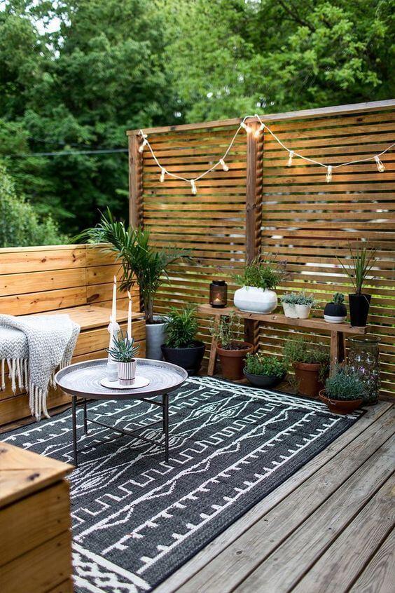 decorar una terraza con estilo nórdico tipos de mesa