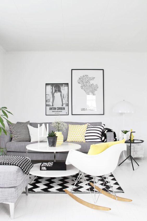 Decorar un salón con estilo nórdico mesas auxiliares
