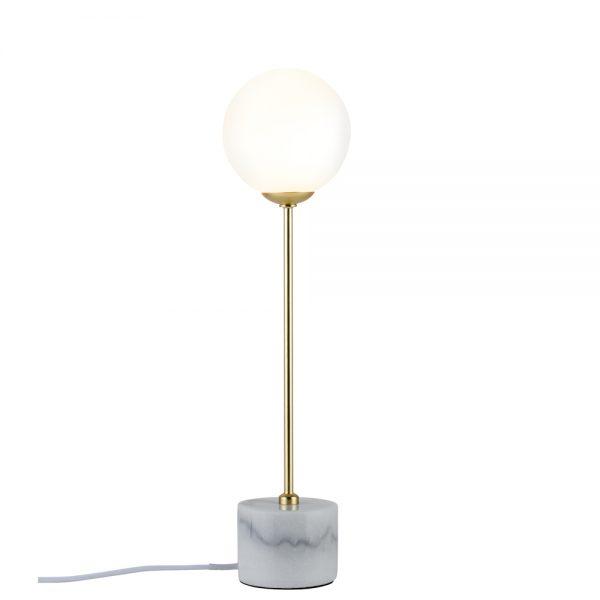 recibidor de estilo nórdico lámpara pie mármol