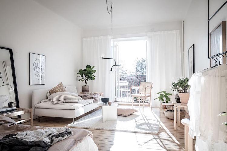 Decorar un salón con estilo nórdico lámpara