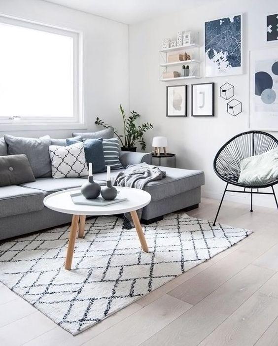 Decorar un salón con estilo nórdico mesas bajas