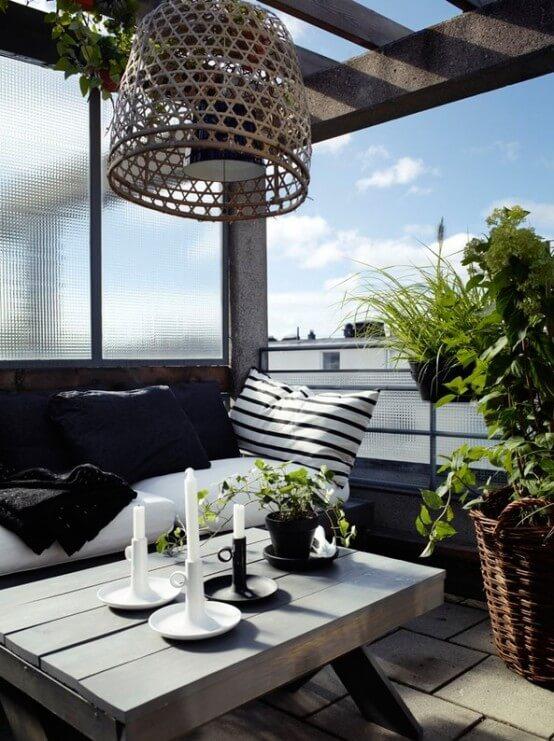 Decorar una terraza con estilo nórdico velas