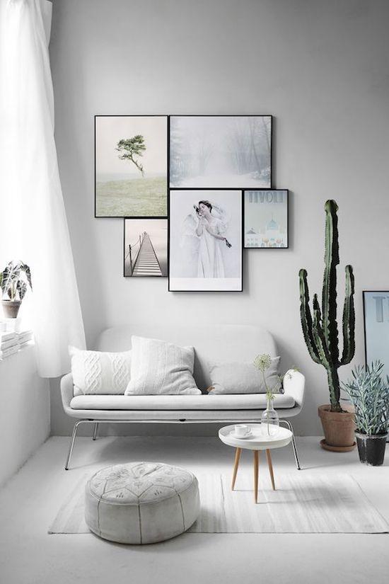 Decorar un salón con estilo nórdico plantas