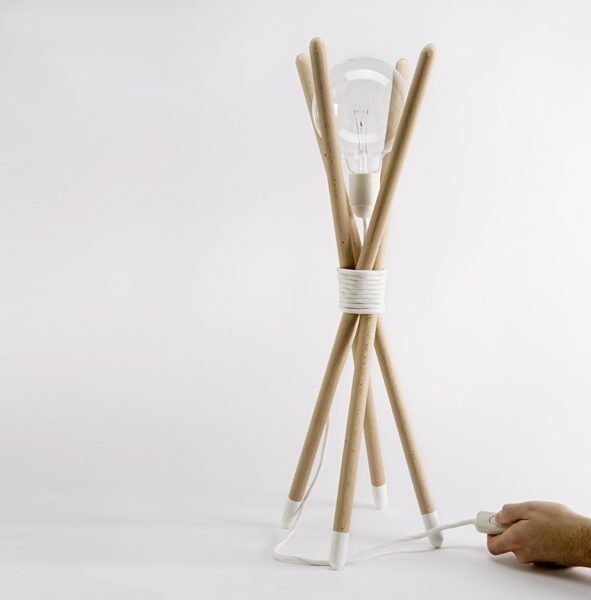 Recibidor de estilo nórdico - lámpara