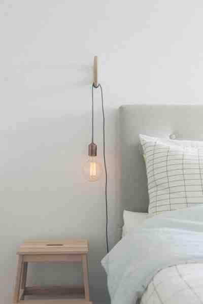 iluminar un dormitorio de estilo nórdico