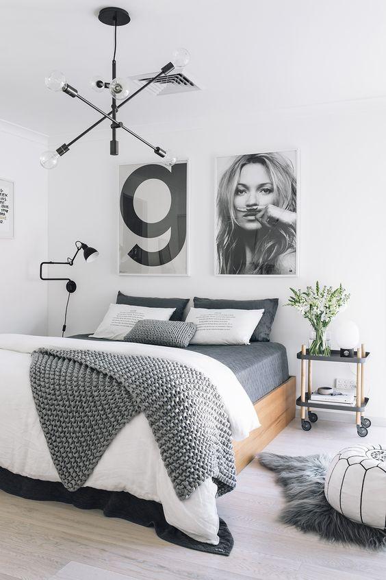 iluminar dormitorio con estilo nórdico con lámparas de diseño