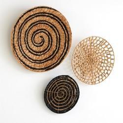 Decorar rincón de un salón con fibras naturales