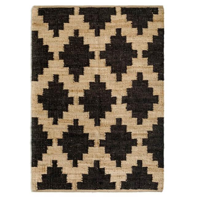 alfombra de yute recibidor nórdico
