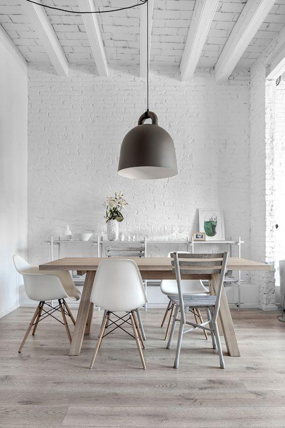 Elegir lámpara para la mesa del comedor
