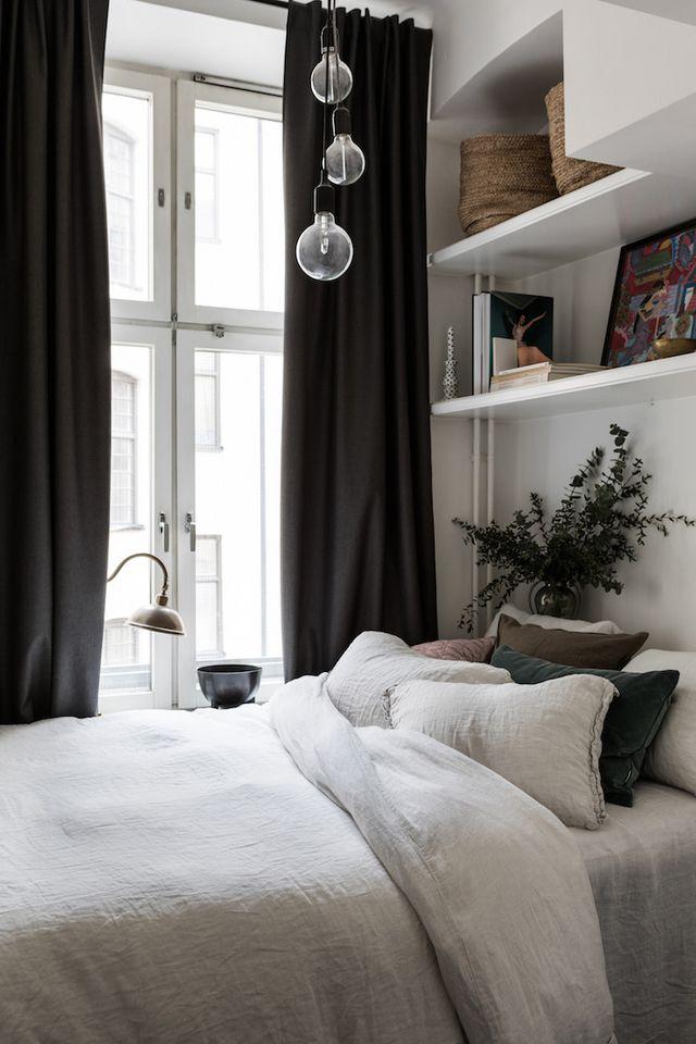 Iluminar dormitorio de estilo nórdico lámpara de techo