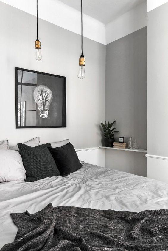 Iluminar un dormitorio de estilo nórdico lámaparas bulb