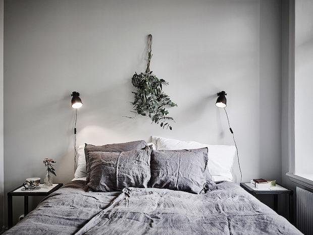 Iluminar un dormitorio de estilo nórdico apliques de pared