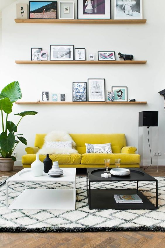 tendencia gen z yellow decoración