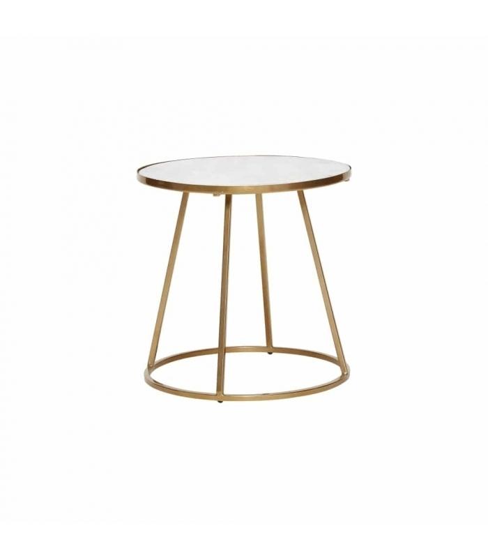 muebles nórdicos mesa auxiliar blanca