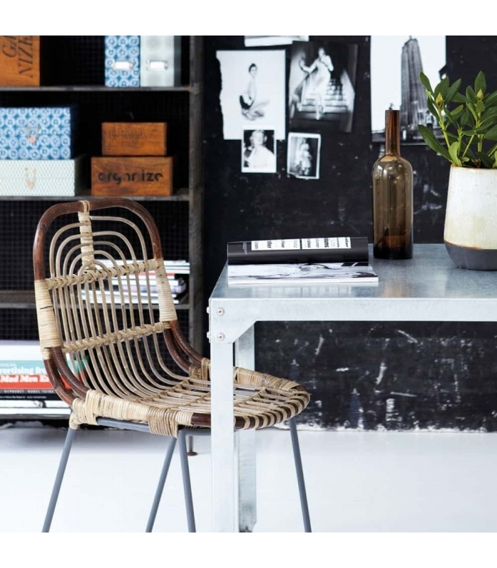 muebles nórdicos silla de ratán