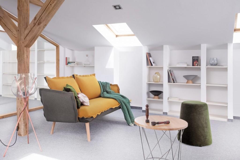 diseño nórdico Ikonik Home sofá fieltro