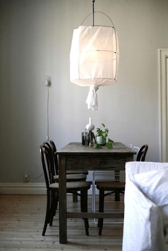 interiores nórdicos lámpara koushi