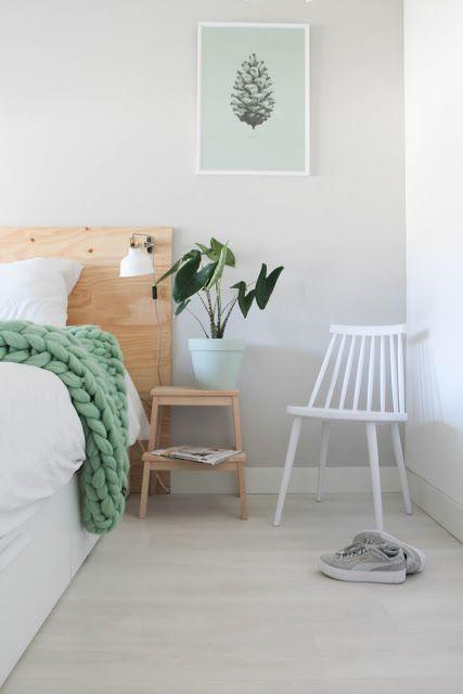 dormitorios de casas de verano con tonos pastel