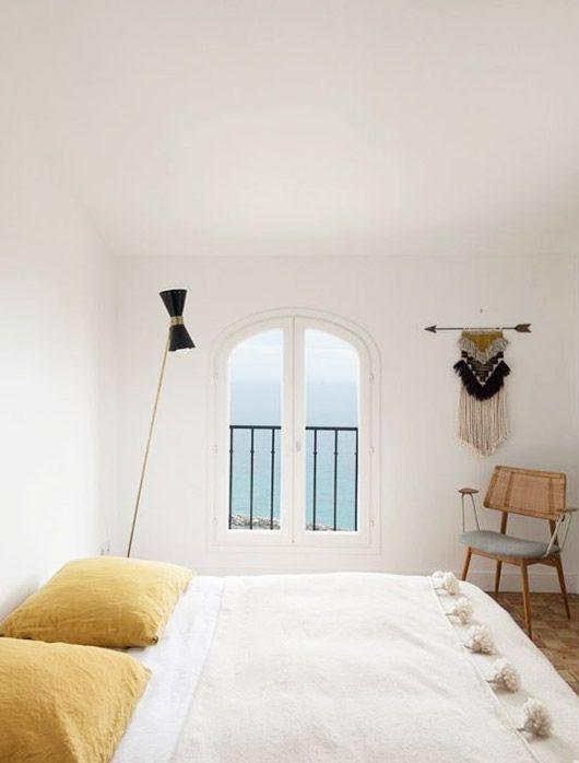 dormitorios de casas de verano minimalistas