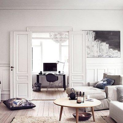 espacio de trabajo con estilo nórdico
