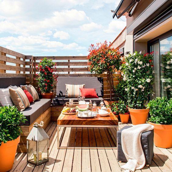 Decoración de exteriores y balcones