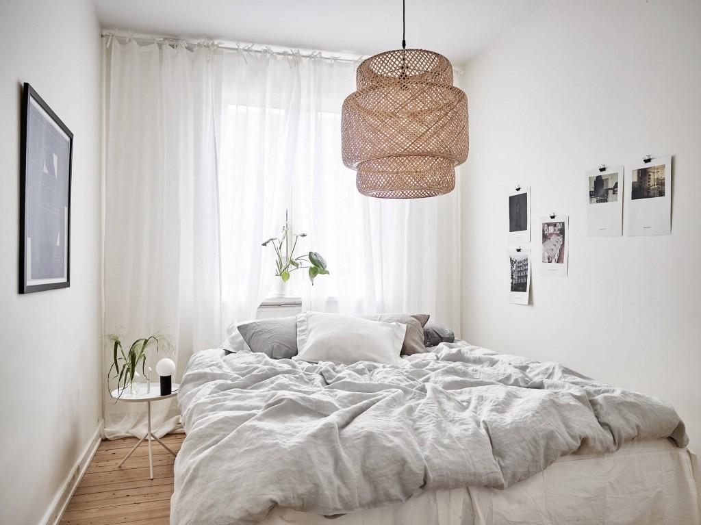 sencillez nórdica dormitorio