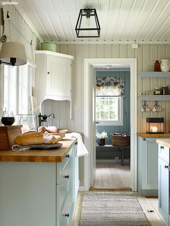 cocina casa de verano noruega