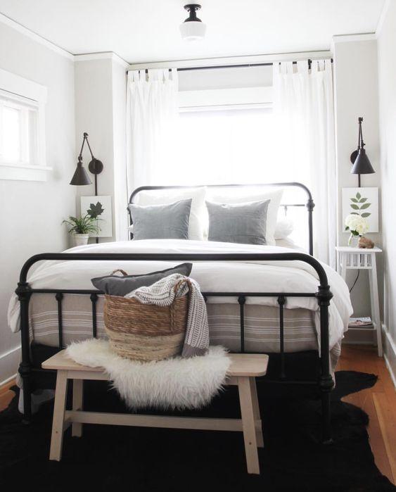 actualizar dormitorio con un banco a pie de cama