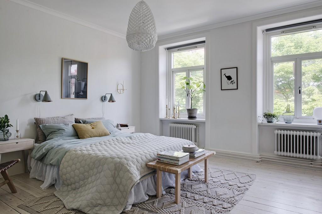 apartamento nórdico dormitorio