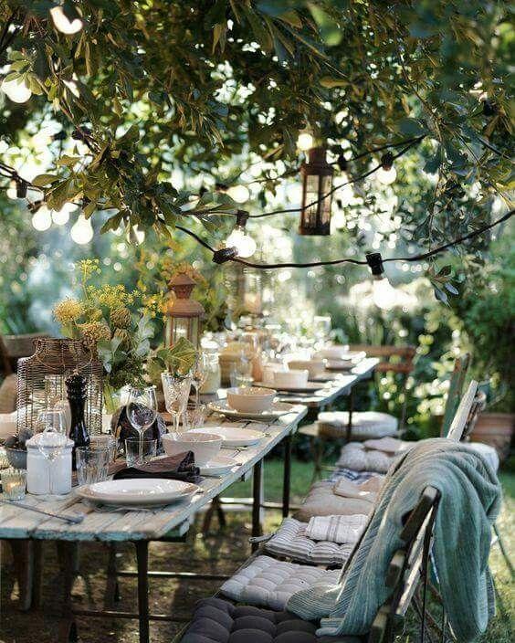 organizar una comida al aire libre