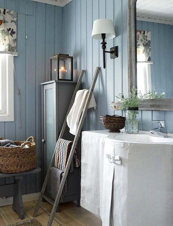 casa de verano noruega baño