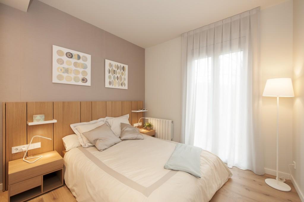 piso con inspiración nórdica dormitorio