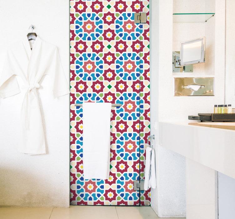 vinilos decorativos azulejo hidráulico baños