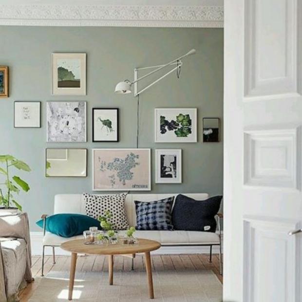 Sage green en paredes