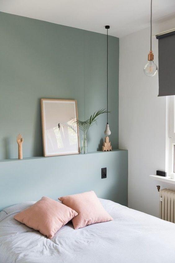 Sage Green en dormitorios
