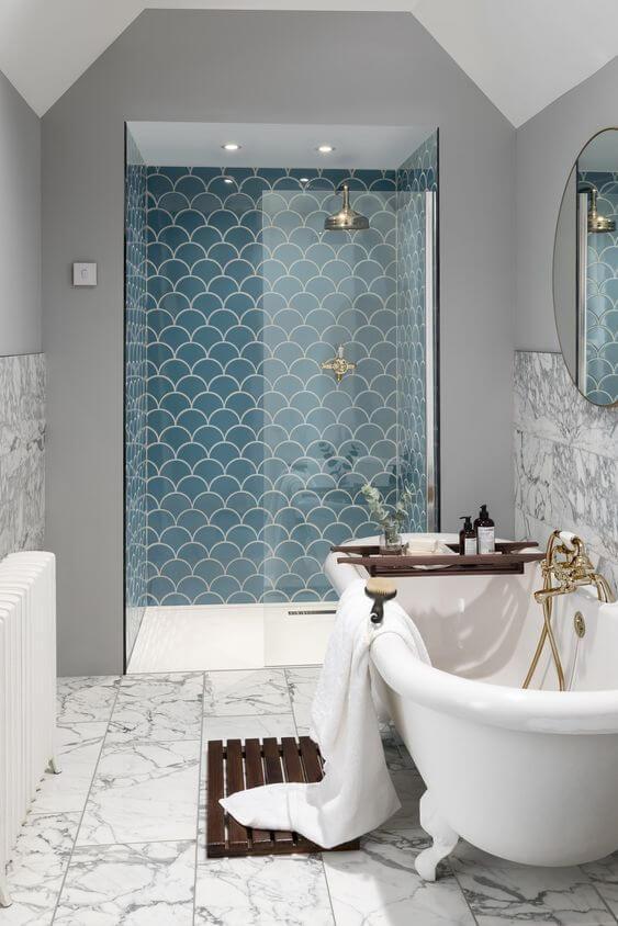 azulejos escama en baños