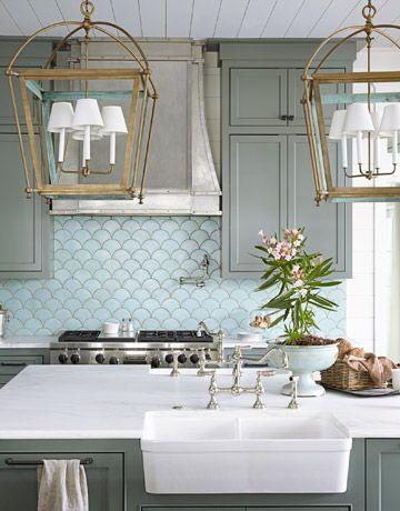azulejos escama en cocinas