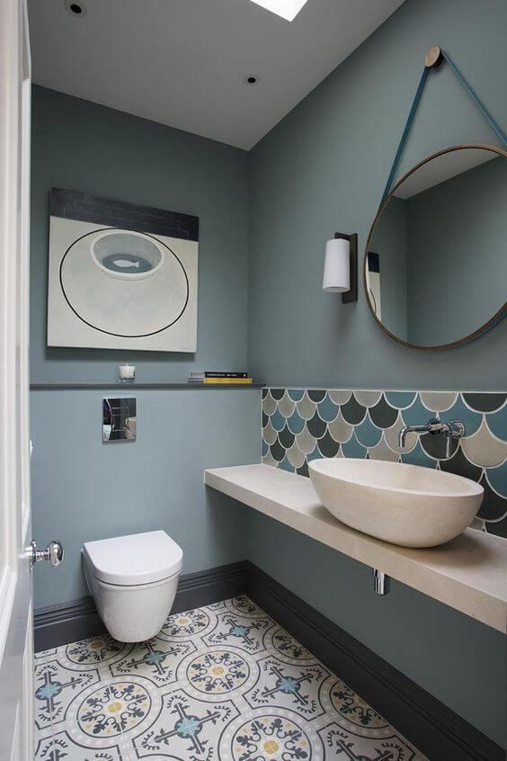 azulejos escama en distintas tonalidades