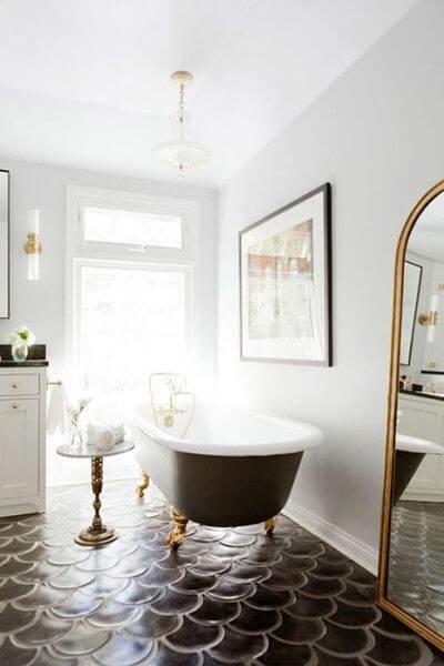 azulejos escama y baños