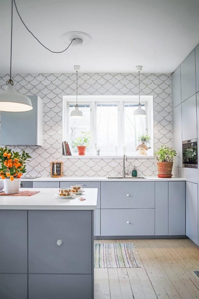 azulejos escama en cocina