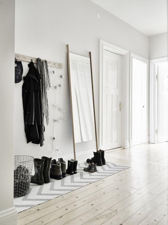 decorar recibidores pequeños estilo nórdico