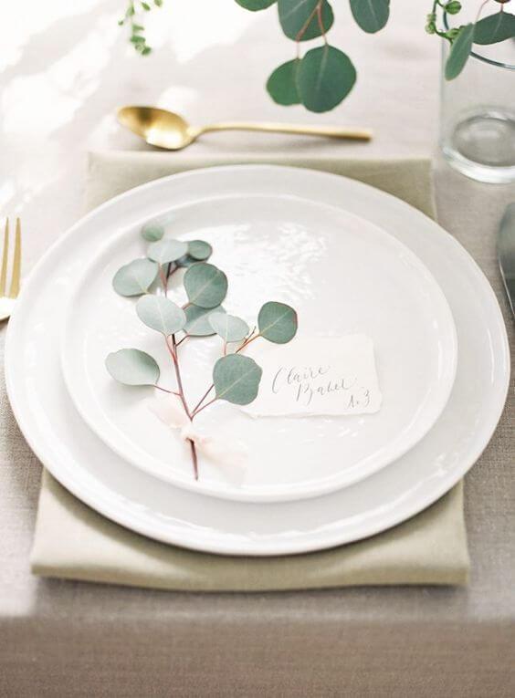 mesa navideña sencilla