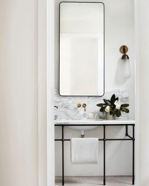 decorar un baño pequeño lavabo