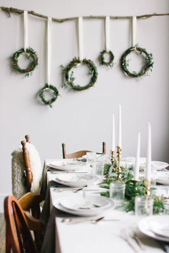 coronas de navidad agrupadas