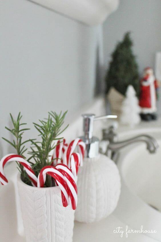 baños navideños adornos